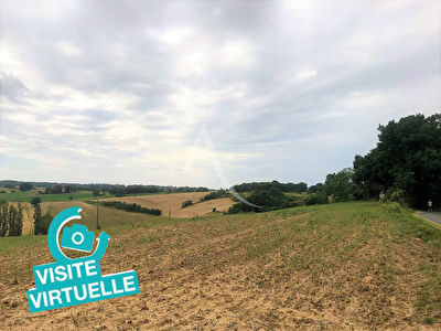 VISITE VIRTUELLE  disponible !! SECTEUR VILLEMUR / TARN  Terrain constructible vue dominante