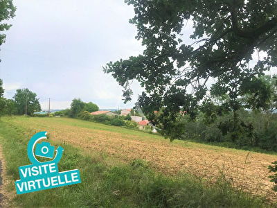VISITE VIRTUELLE disponible !! SECTEUR RABASTENS Terrain constructible vue dominante